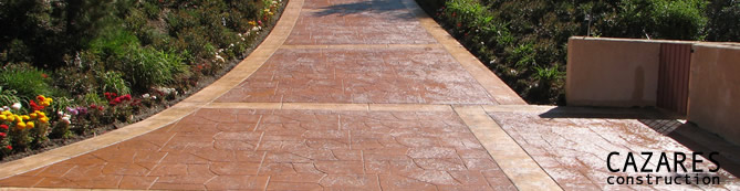 Stamped Concrete Driveway with Border