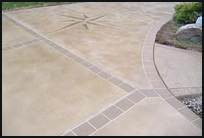 give your concrete a finished look with a bordered edge just adding the element of a 6 border will make your driveway look more elegant - Concrete Driveway Design Ideas