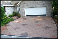 cant afford to color the entire driveway choose a pattern and randomly select varying squares or areas to hand color - Concrete Driveway Design Ideas