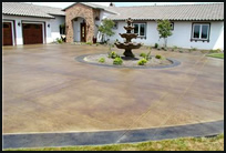 Concrete driveway with control joint pattern