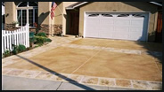 Driveway with a Concrete Overlay